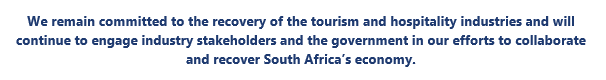 South Africa is Travel Safe - A message from TBCSA CEO 3